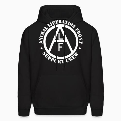 ALF Animal Liberation Front support crew  - Animal Rights Activism Hooded sweatshirt