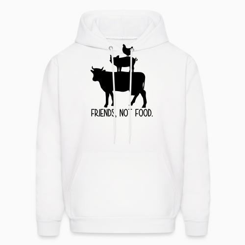 Friends, not food - Animal Rights Activism Hooded sweatshirt