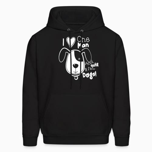 i love one man and quite a few dogs! - Dogs Lovers Hooded sweatshirt