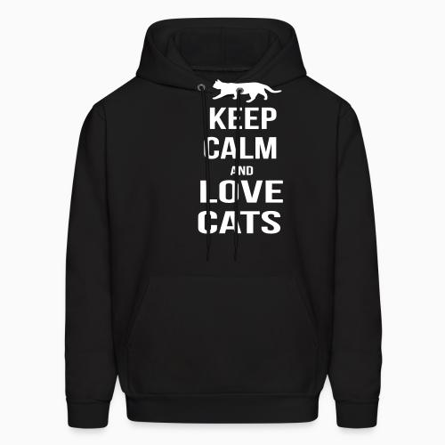 keep calm and love cats  - Cats Lovers Hooded sweatshirt