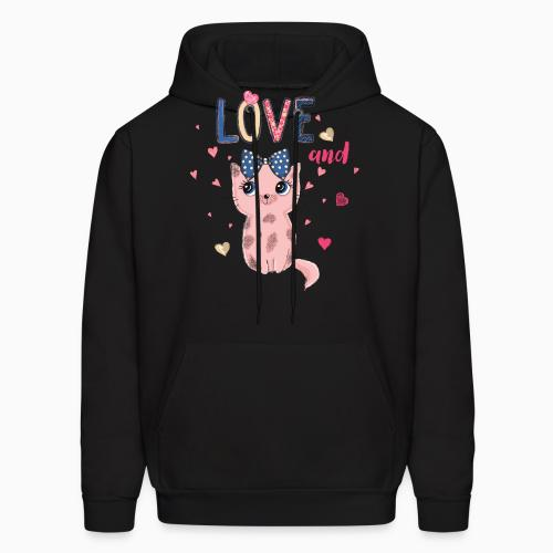 Love and cat  - Cats Lovers Hooded sweatshirt