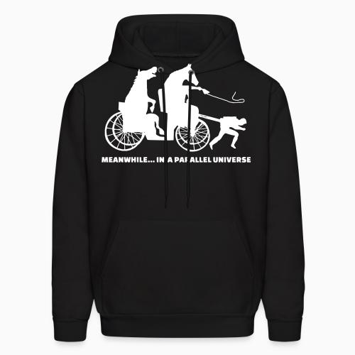 Meanwhile... in a parallel universe - Animal Rights Activism Hooded sweatshirt