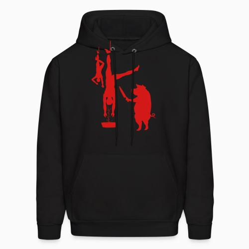 Meat murder - Vegan Hooded sweatshirt
