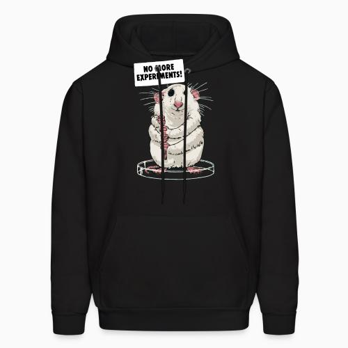 No more animal experiments! - Animal Rights Activism Hooded sweatshirt