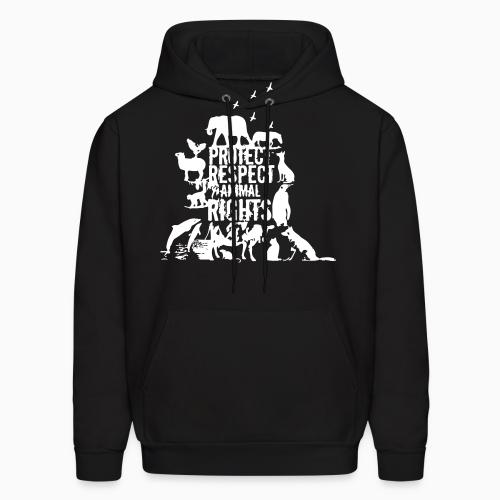 Protect respect animal rights - Animal Rights Activism Hooded sweatshirt