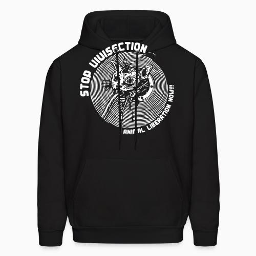 Stop vivisection - animal liberation now!!! - Animal Rights Activism Hooded sweatshirt