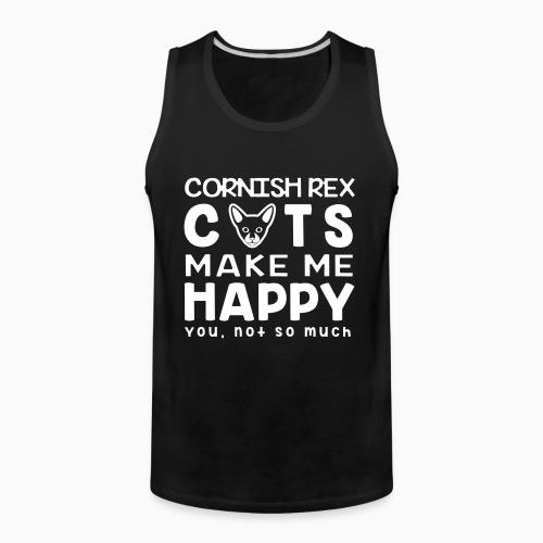 Cornish rex cats make me happy. You, not so much. - Cat Breeds Tank top