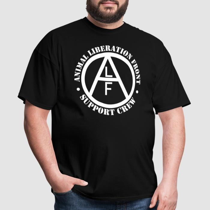 ALF Animal Liberation Front support crew  - Animal Rights Activism T-shirt