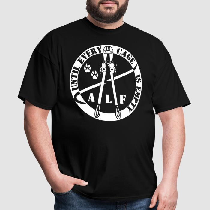 ALF until every cage is empty - Animal Rights Activism T-shirt
