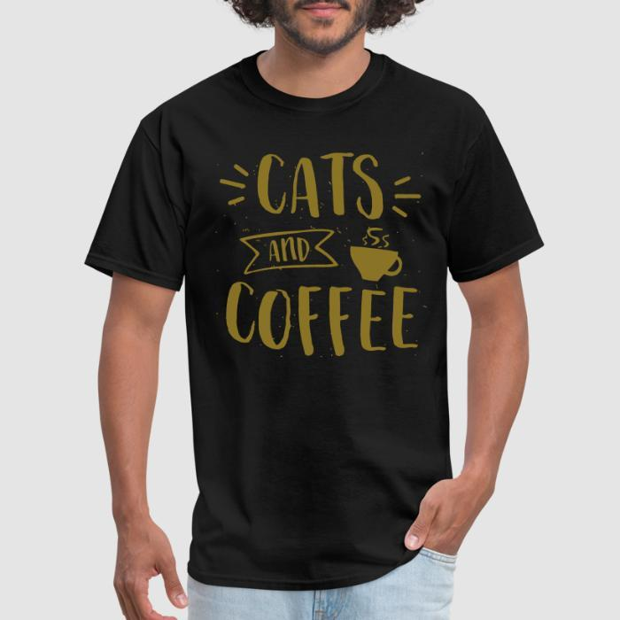 Cats and coffee - Cats Lovers T-shirt