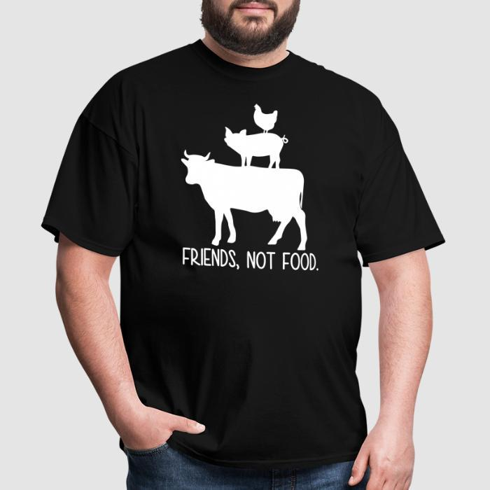 Friends, not food - Animal Rights Activism T-shirt