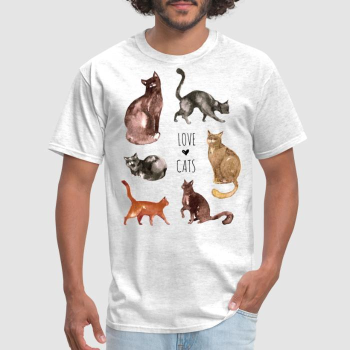 Love cats  - Cats Lovers T-shirt