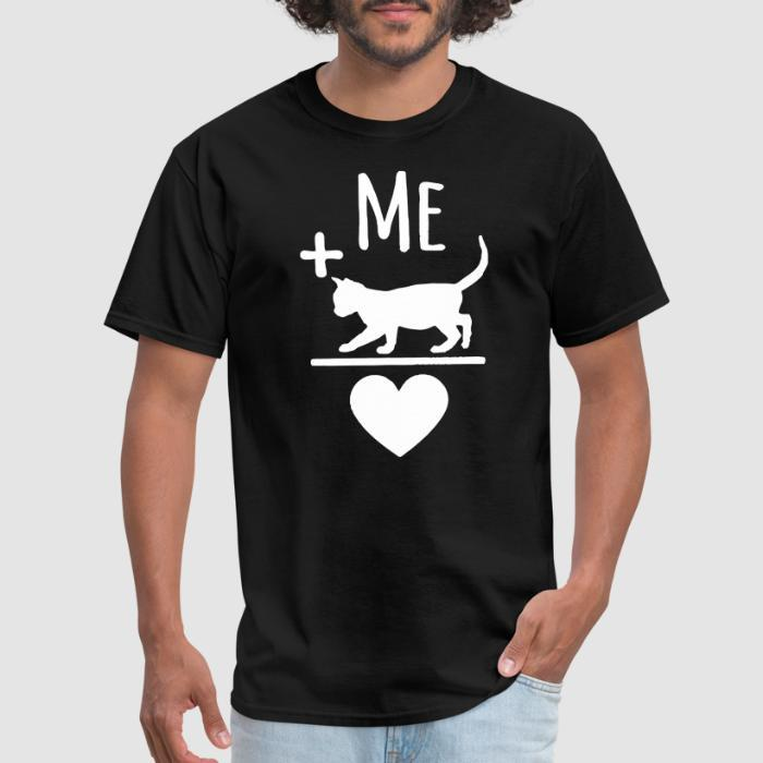Me + cat = love  - Cats Lovers T-shirt
