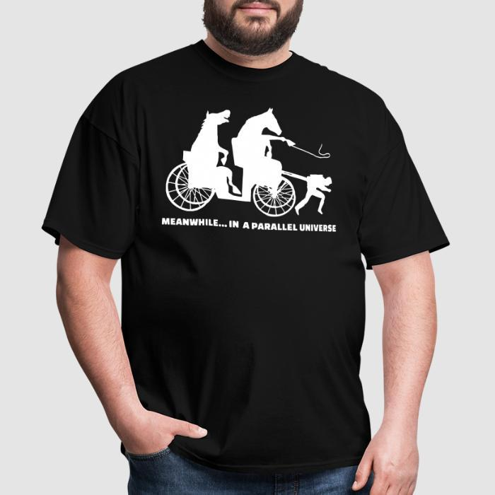 Meanwhile... in a parallel universe - Animal Rights Activism T-shirt