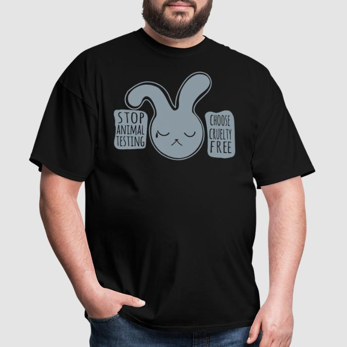 Stop animal testing. Choose cruelty free - Animal Rights Activism T-shirt