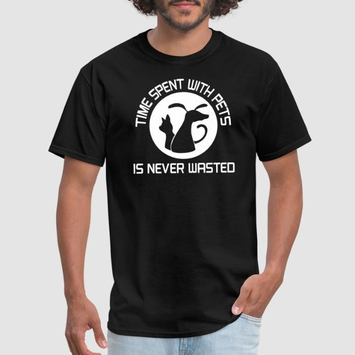 time spent with pets - Dogs Lovers T-shirt