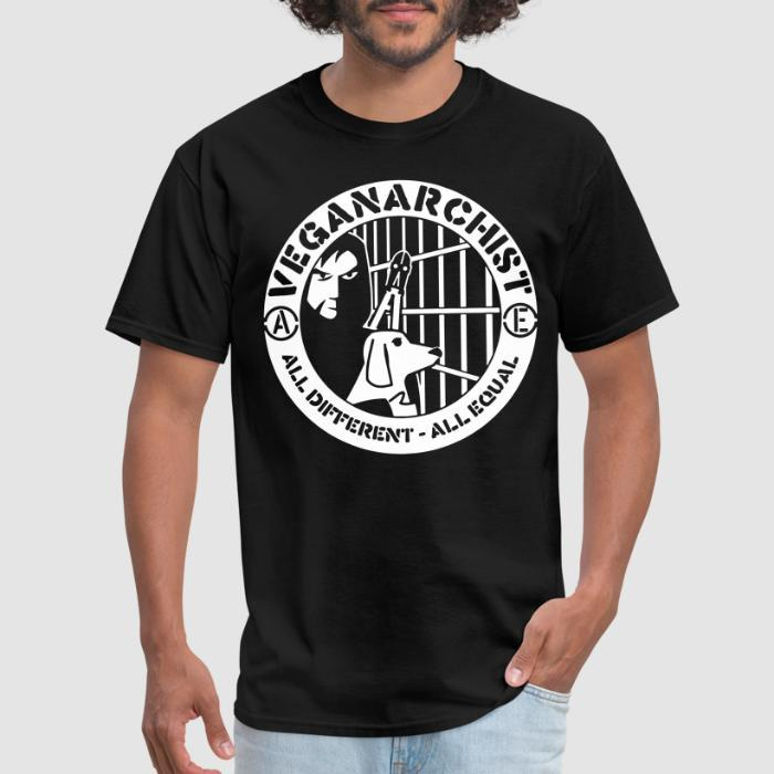 Veganarchist - all different, all equal - Vegan T-shirt