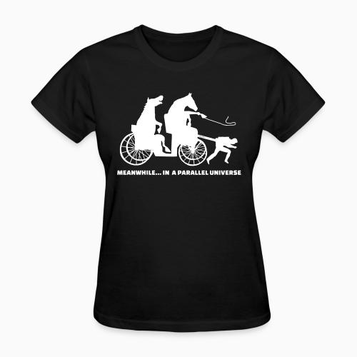 Meanwhile... in a parallel universe - Animal Rights Activism Women T-shirt