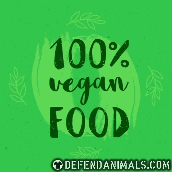 100% Vegan food  - Vegan Women Organic T-shirt