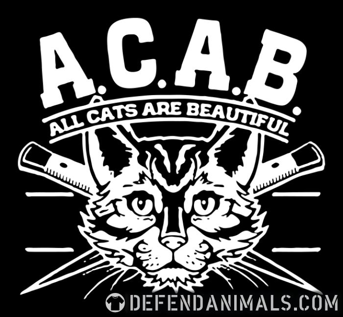 A.C.A.B. all cats are beautifful - Cats Lovers T-shirt