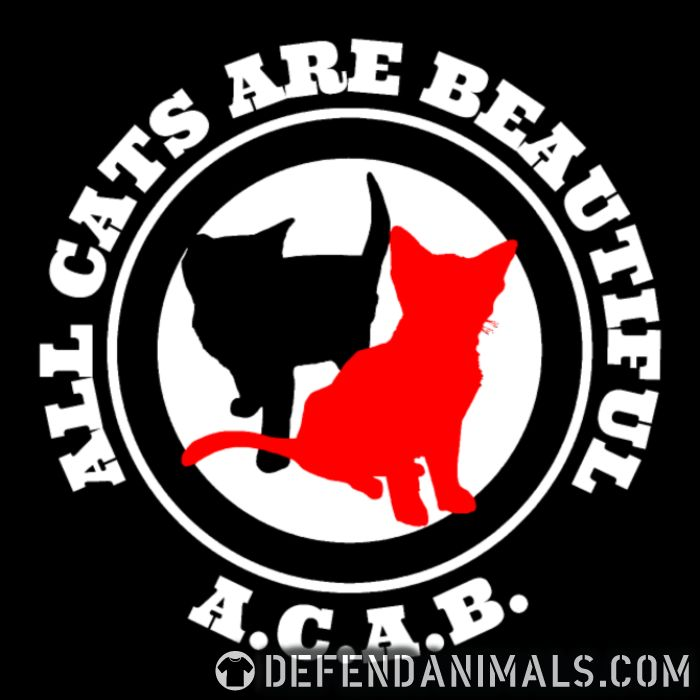 A.C.A.B. All Cats Are Beautiful - Cats Lovers Zip hoodie