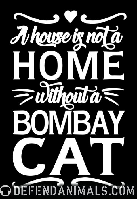 A house is not a home without a bombay cat - Cat Breeds Women Organic T-shirt