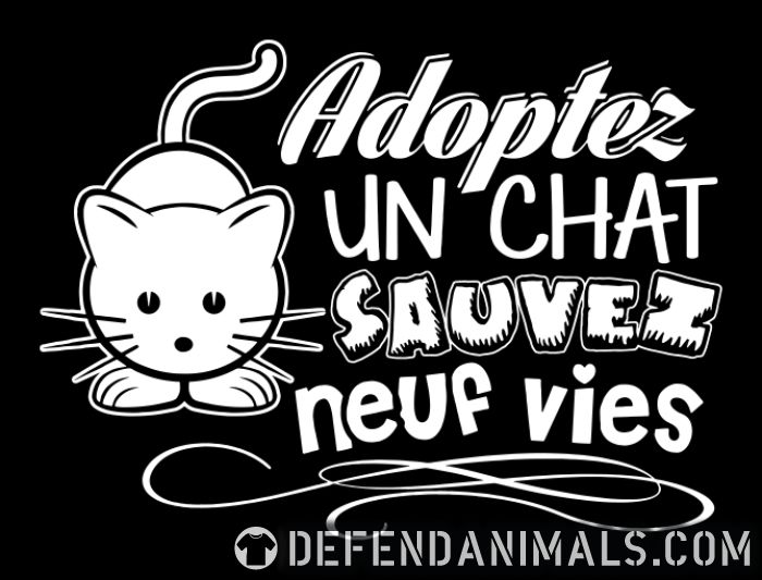 Adopter un chat sauvez neuf vies - Cats Lovers Women Organic T-shirt
