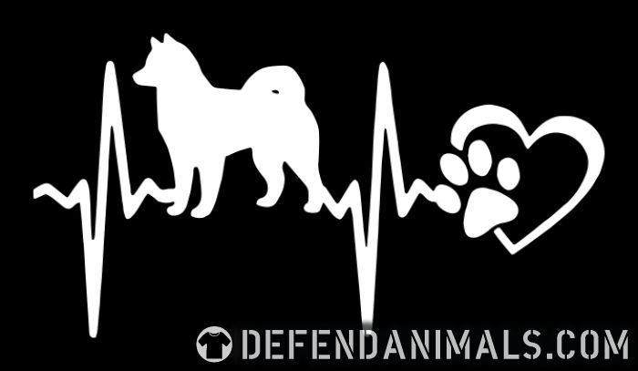 Alaskan Malamute heartbeat - Dog Breeds Women Organic T-shirt
