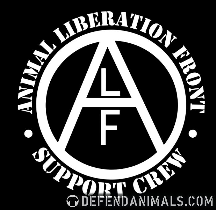 ALF Animal Liberation Front support crew  - Animal Rights Activism Women Organic T-shirt