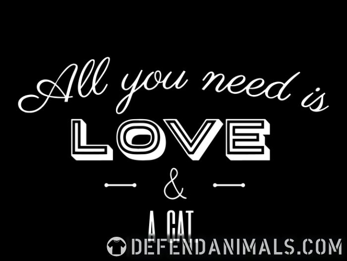 All you need is love & a cat  - Cats Lovers Kids t-shirt