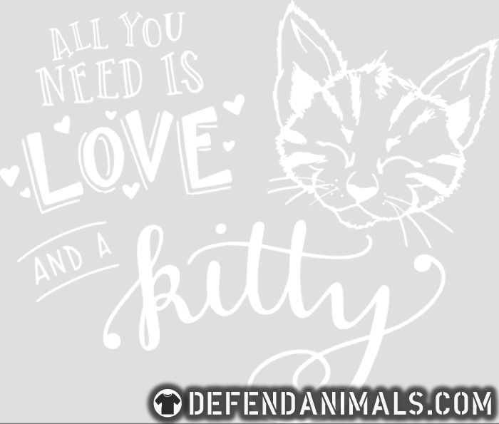 All you need is love and a kitty  - Cats Lovers Women Organic T-shirt