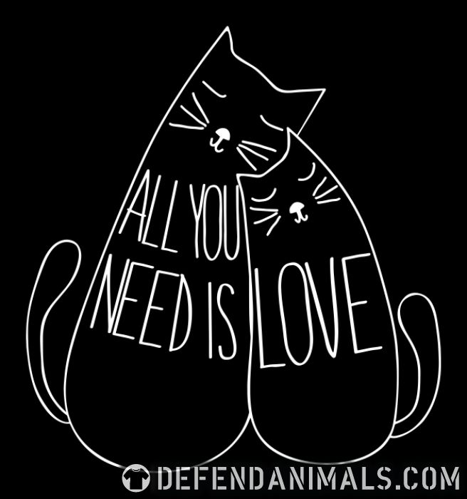 All you need is love  - Cats Lovers Women Organic T-shirt