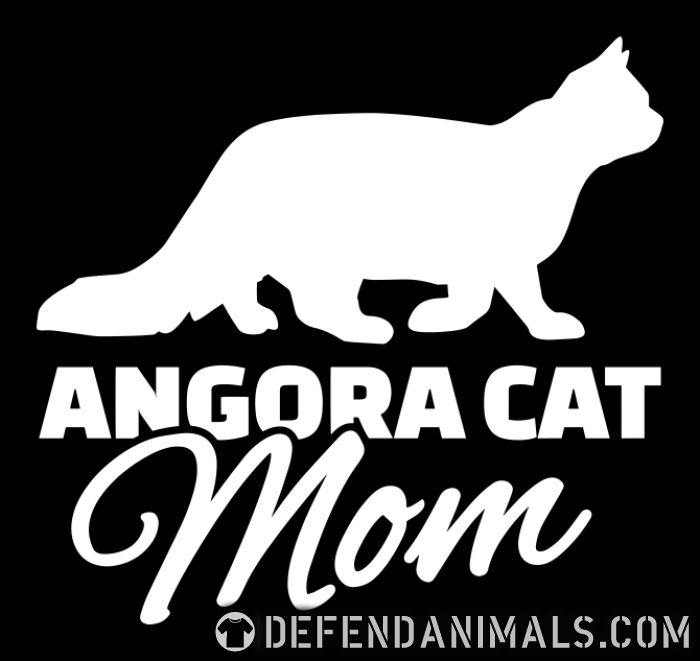 Angora cat mom - Cat Breeds Women Organic T-shirt