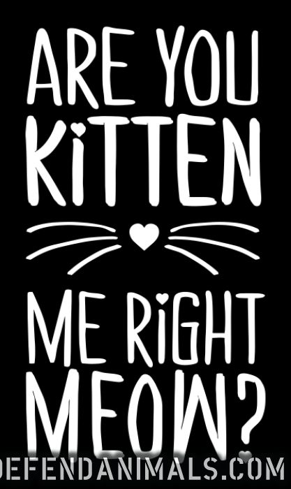 are you kitten me right meow  - Cats Lovers Women Organic T-shirt
