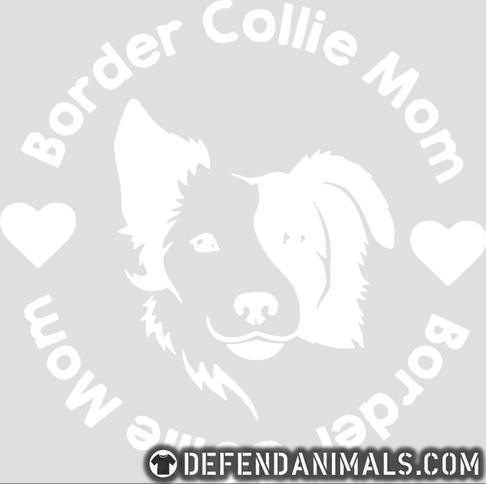 Border Collie mom  - Dog Breeds Women Organic T-shirt