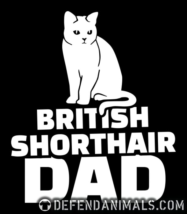 British Shorthair dad - Cat Breeds Women Organic T-shirt