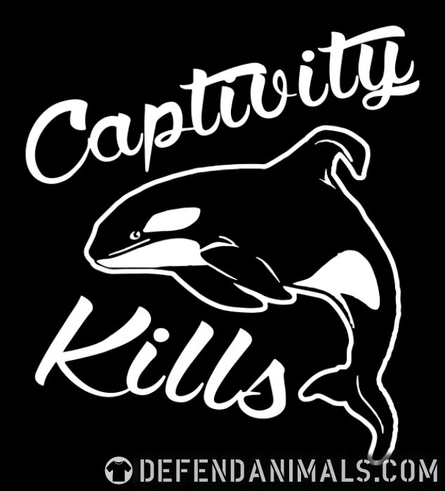 Captivity kills - Animal Rights Activism T-shirt