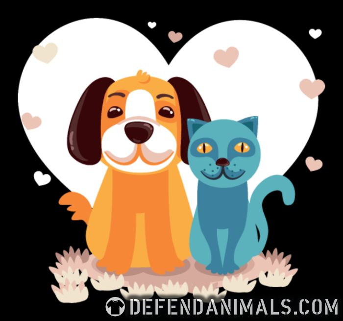 Cat and Dog  - Cats Lovers Women Organic T-shirt
