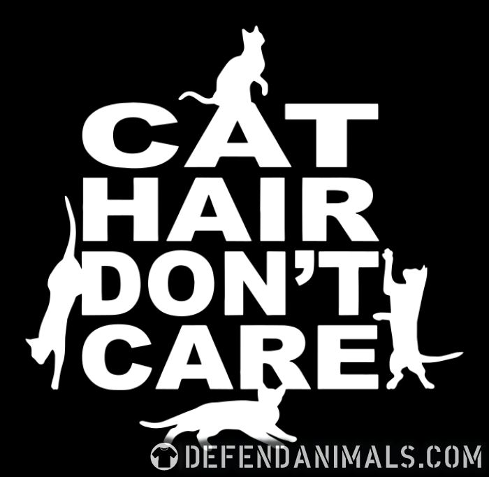 Cat hair don't care  - Cats Lovers Women tank tops