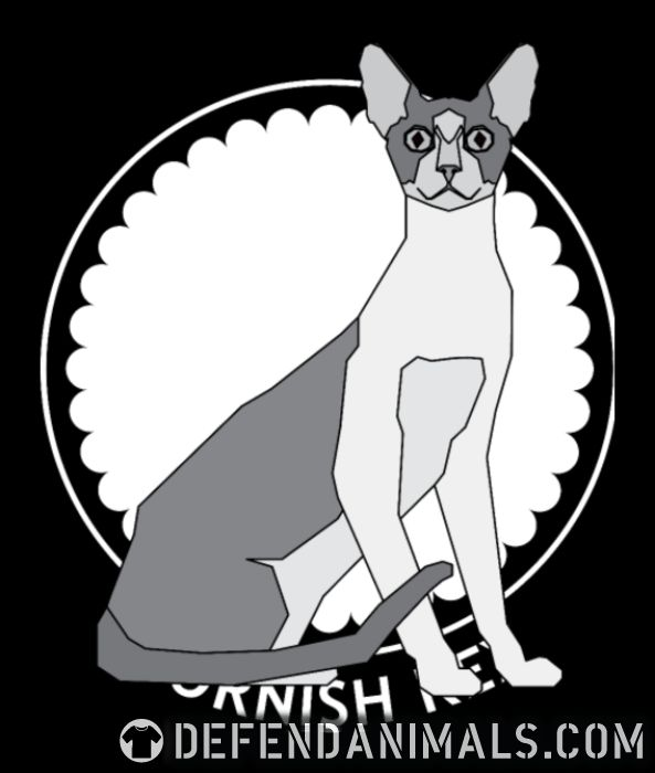 Cornish Rex Cat - Cat Breeds Women Organic T-shirt