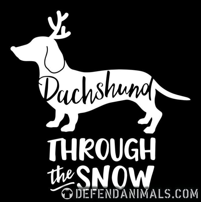 Dachshund troung the snow - Dog Breeds Women Organic T-shirt