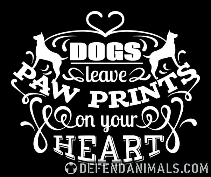 dog leave paw prints on your heart - Dogs Lovers Women Organic T-shirt