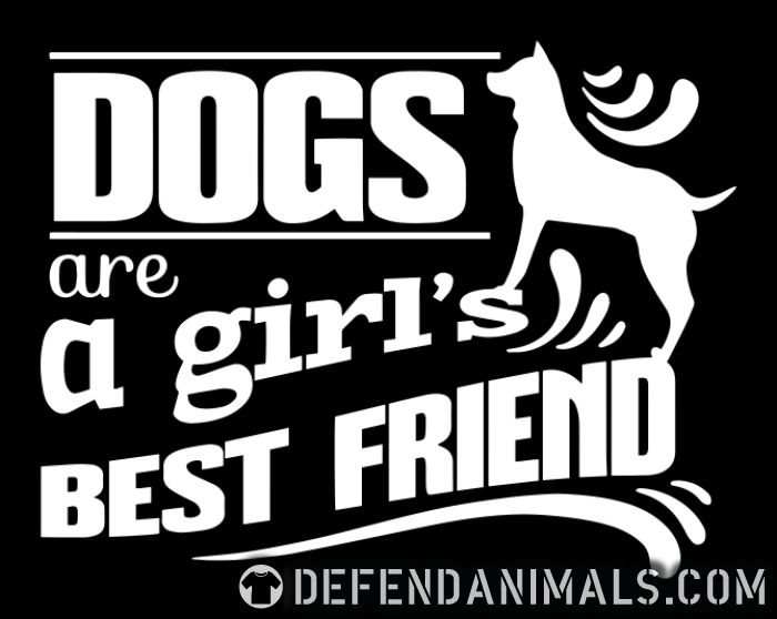 Dogs are a girl's best friend  - Dogs Lovers Women Organic T-shirt