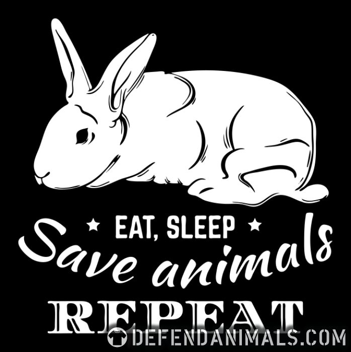 eat, sleep, save animals, repeat - Animal Rights Activism Women Organic T-shirt