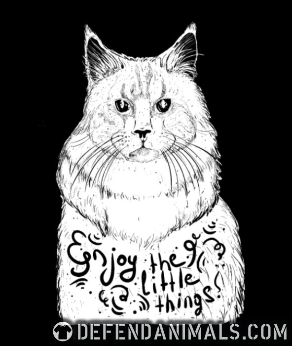 Enjoy the little things  - Cats Lovers Women Organic T-shirt