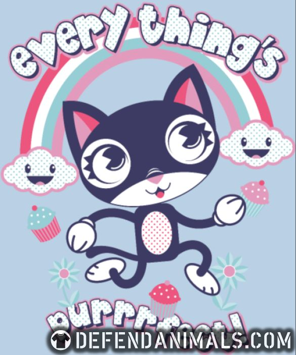 Every thing's purrfect! - Cats Lovers Women Organic T-shirt