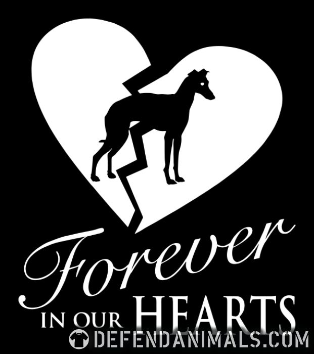 forever in your hearts greyhound - Dog Breeds Women Organic T-shirt