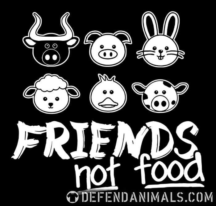 Friends not food - Vegan Women Organic T-shirt