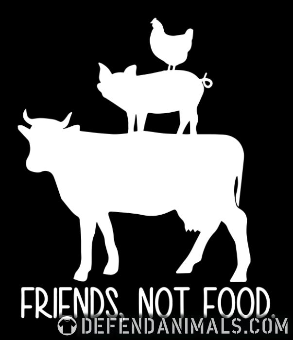 Friends, not food - Animal Rights Activism Organic T-shirt