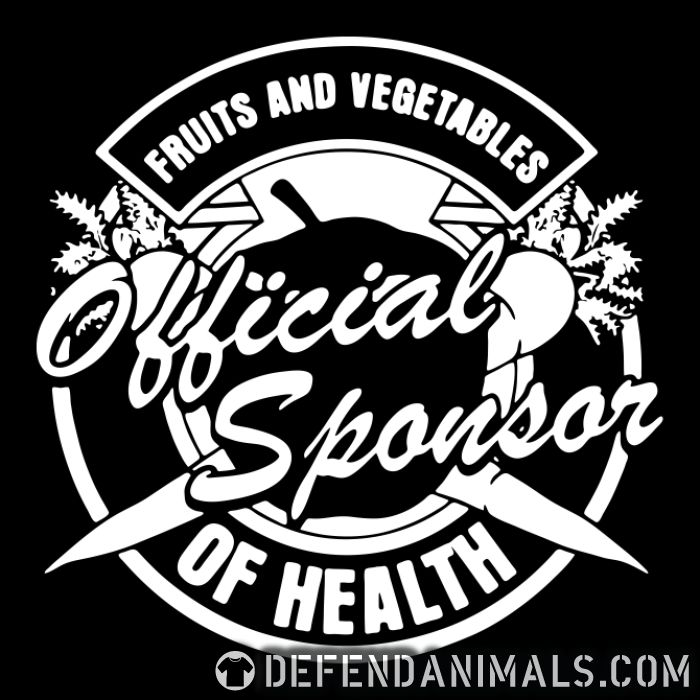 Fruits and vegetables official sponsor of health  - Vegan Zip hoodie